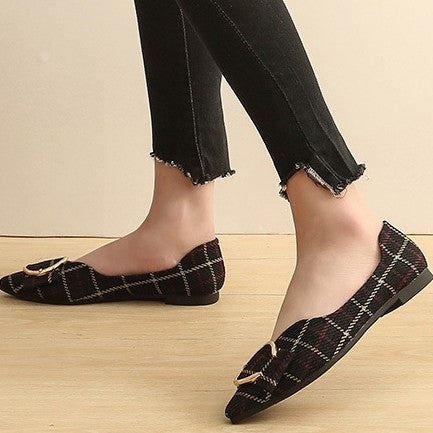 products / women_s_plaid_print_flat_heel_pumps_closed-toe_shoes_2.jpg