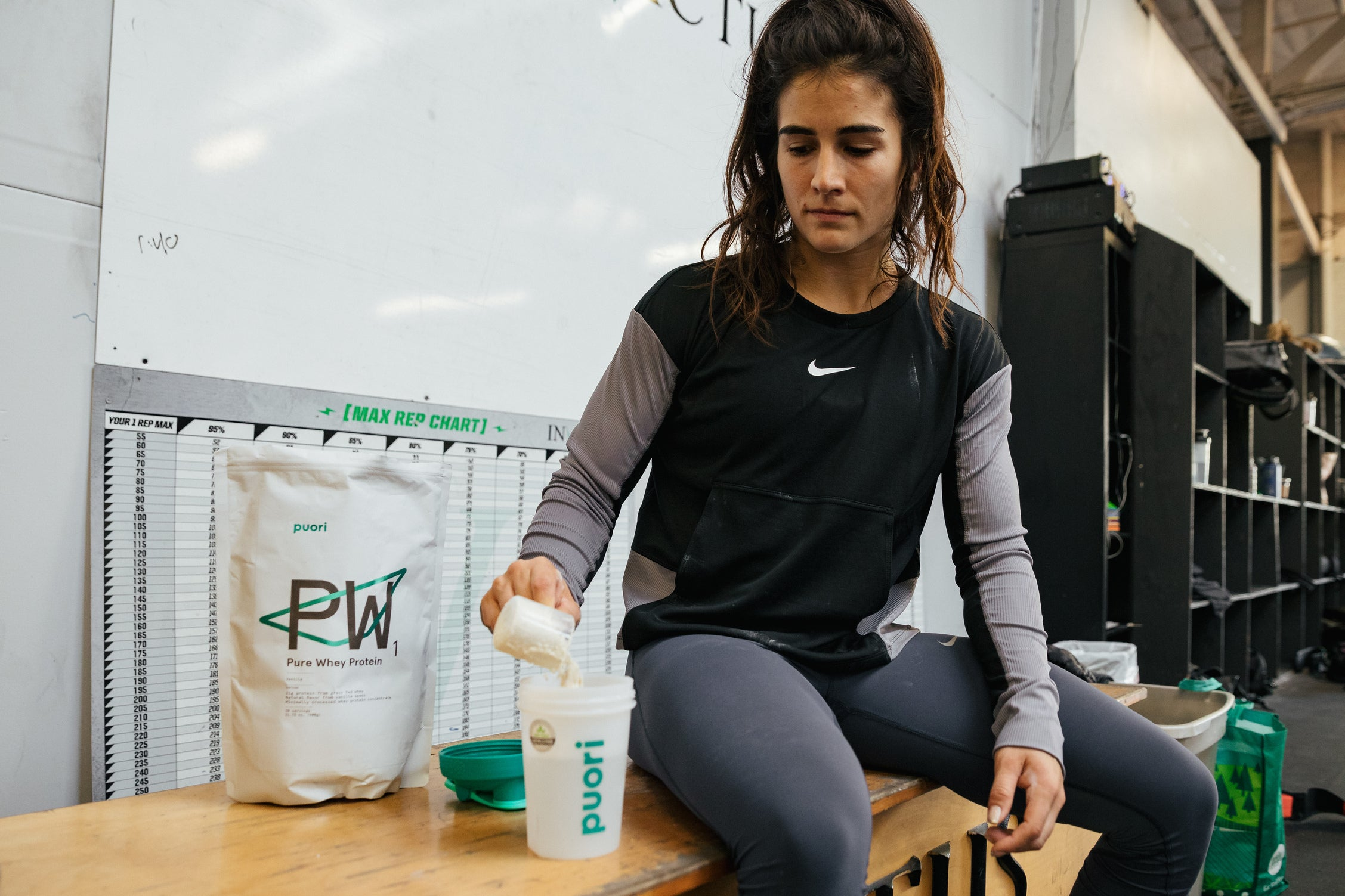Lauren Fisher with Puori PW1 Vanilla