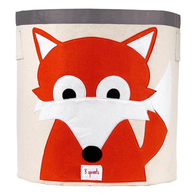 3 Sprouts Orange Fox Storage Bin