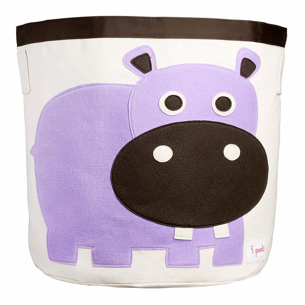 3 Sprouts Purple Hippo Storage Bin