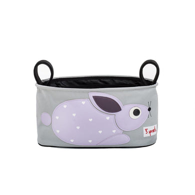 3 Sprouts Purple Rabbit Stroller Organizer