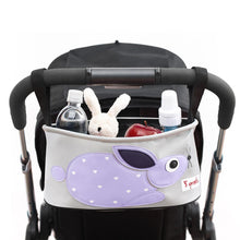 Load image into Gallery viewer, 3 Sprouts Purple Rabbit Stroller Organizer