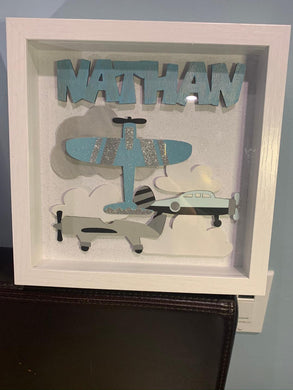 Airplane Shadow Boxes