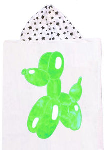 Balloon Dog Boogie Baby Hooded Towel