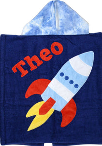 Blast Off Boogie Baby Hooded Towel