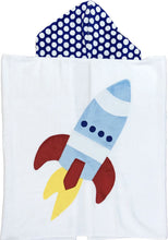 Load image into Gallery viewer, Blast Off Boogie Baby Hooded Towel