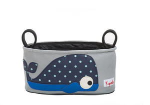 3 Sprouts Blue Whale Stroller Organizer