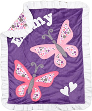 Load image into Gallery viewer, Butterfly Boogie Baby Blanket