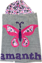 Load image into Gallery viewer, Butterfly Boogie Baby Hooded Towel