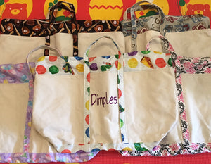 Dimples Large Zippered Tote Bag