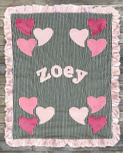 Load image into Gallery viewer, Funky Hearts Boogie Baby Blanket