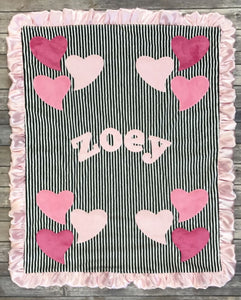 Funky Hearts Boogie Baby Blanket