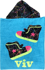 Hip Hop High Tops Boogie Baby Hooded Towel
