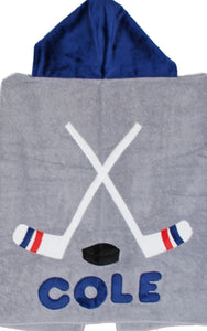 Hockey Sticks Boogie Baby Hooded Towel