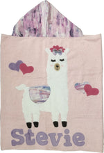 Load image into Gallery viewer, Llama Mama Boogie Baby Hooded Towel