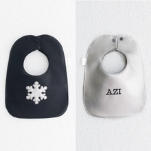 Load image into Gallery viewer, Boca Baby Company Monochrome Collection - Snowflake Bib
