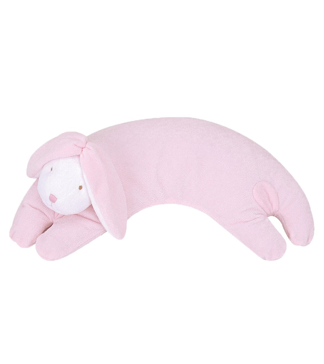 Angel Dear Curved Pillow - Pink Bunny
