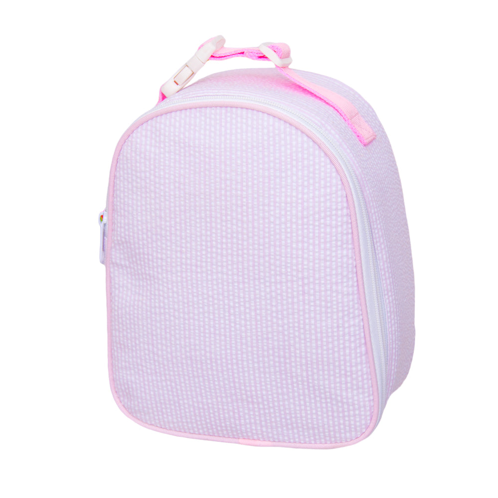 Pink Seersucker Gumdrop Lunch Bag