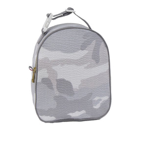 Snow Camo Seersucker Gumdrop Lunch Bag