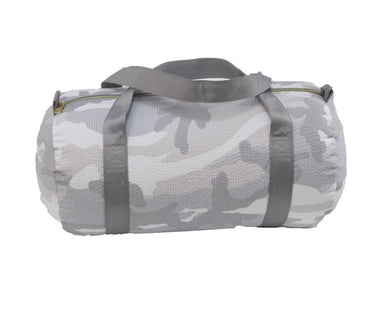 Snow Camo Seersucker Medium Duffle
