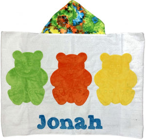 Three Little Bears Boogie Baby Hooded Towel
