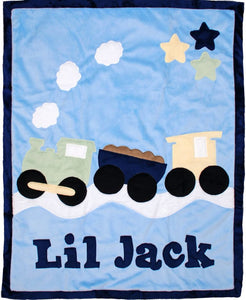 Train Boogie Baby Blanket