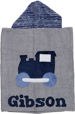 Train Boogie Baby Hooded Towel