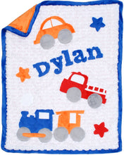 Load image into Gallery viewer, Transportation Boogie Baby Blanket