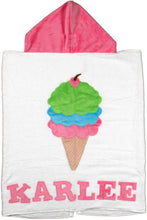 Load image into Gallery viewer, Triple Scoop Boogie Baby Hooded Towel