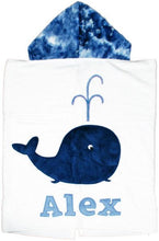 Load image into Gallery viewer, Whale Boogie Baby Hooded Towel