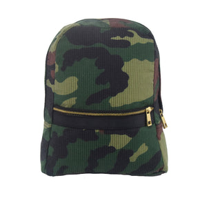 Woodland Seersucker Small Backpack