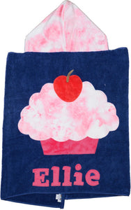Cupcake Boogie Baby Hooded Towel