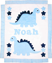 Load image into Gallery viewer, Dinosaurs Boogie Baby Blanket