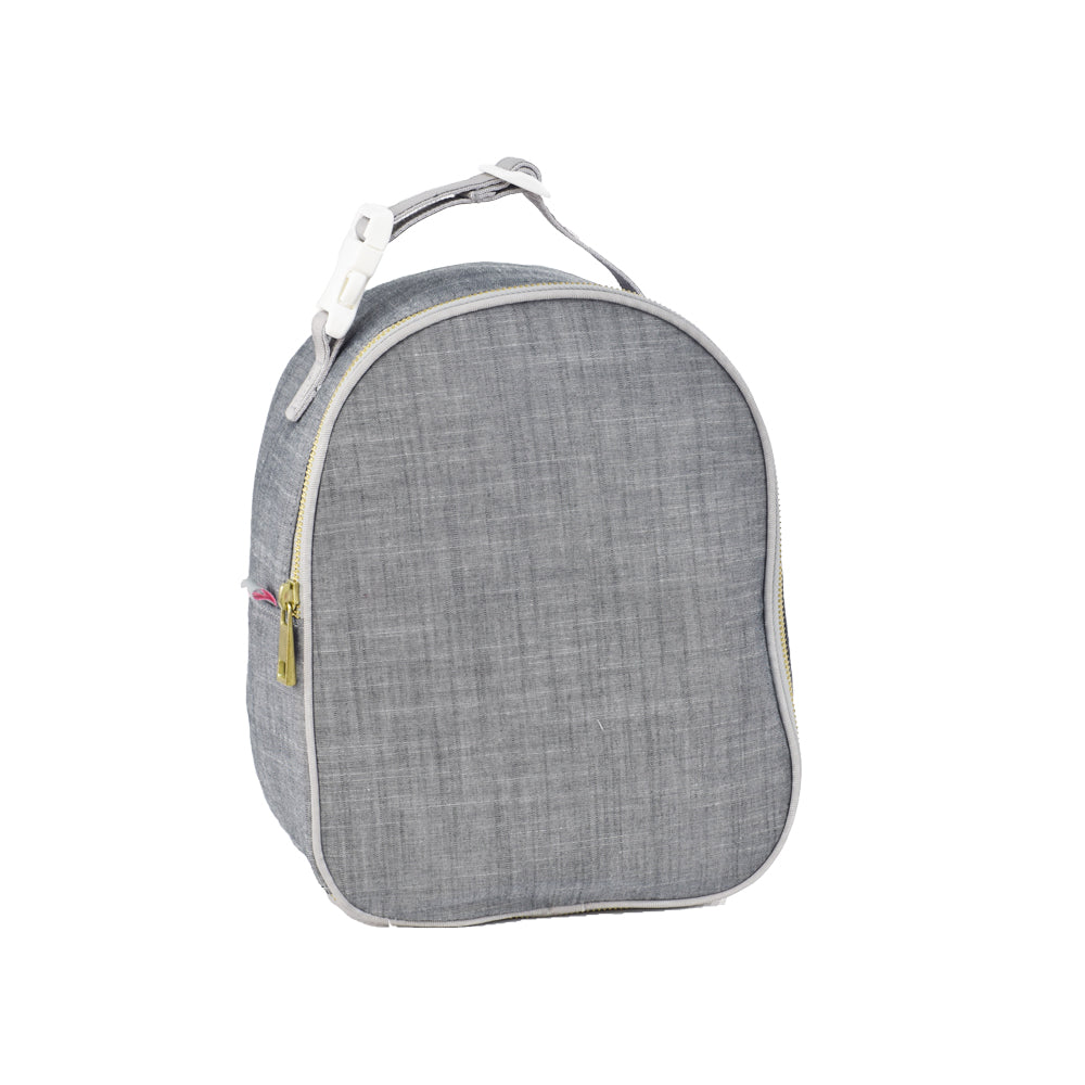 Grey Chambray Gumdrop Lunch Bag