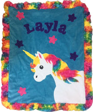 Load image into Gallery viewer, Magical Unicorn Boogie Baby Blanket