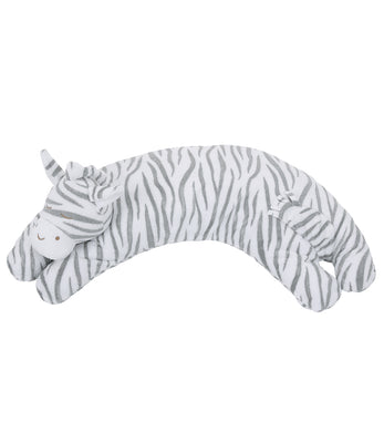 Angel Dear Curved Pillow - Grey Zebra
