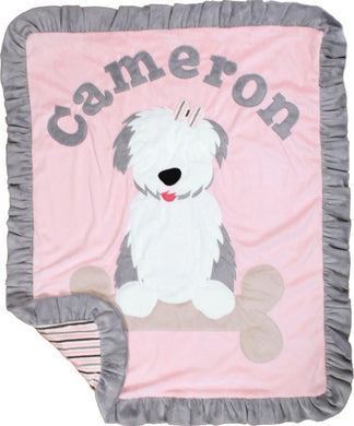 Puppy Love Boogie Baby Blanket
