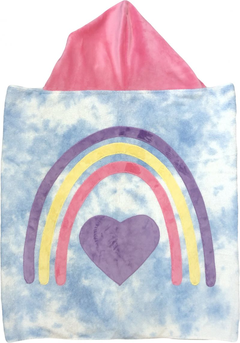 Rainbow of Love Boogie Baby Hooded Towel