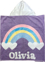 Load image into Gallery viewer, Rainbow Boogie Baby Hooded Towel