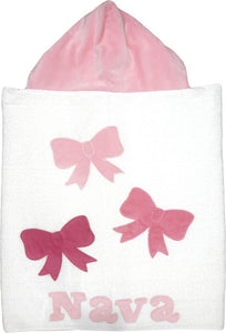 Triple Bows Boogie Baby Hooded Towel
