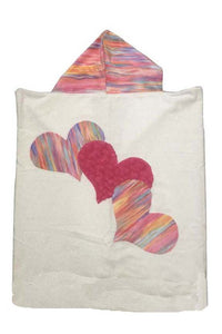 Triple Heart Boogie Baby Hooded Towel