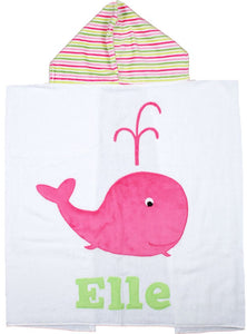 Whale Boogie Baby Hooded Towel