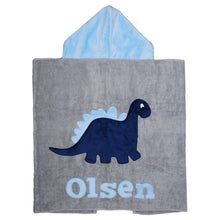 Load image into Gallery viewer, Dinosaur Boogie Baby Hooded Towel