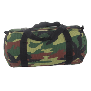 Woodland Camo Seersucker Medium Duffle