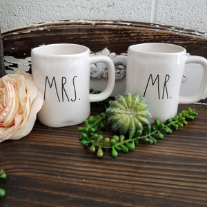 Rae Dunn - Mrs. & Mr. - Set of 2