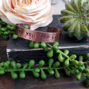 Copper Bracelet - Eff You See Kay