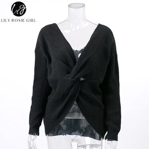 Twisted Back Knitted Sweater