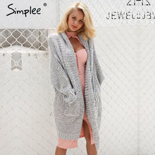 Load image into Gallery viewer, Casual Long Knitted Cardigan