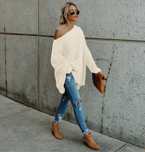 Knitted Off Shoulder Sweater