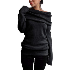 Oversized Wide Neck Jumper